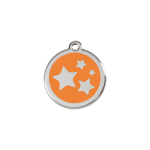 Red Dingo Dog Tag Star Orange