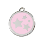 Red Dingo Dog Tag Star Pink