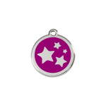 Red Dingo Dog Tag Star Purple