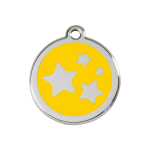 Red Dingo Dog Tag Star Yellow