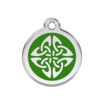 Red Dingo Dog Tag Tribal Arrows Green