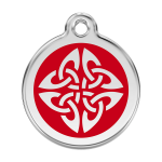 Red Dingo Dog Tag Tribal Arrows Red