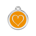 Red Dingo Dog Tag Tribal Heart Orange