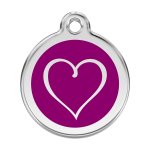 Red Dingo Dog Tag Tribal Heart Purple