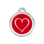 Red Dingo Dog Tag Tribal Heart Red