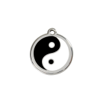Red Dingo Dog Tag Ying and Yang Black