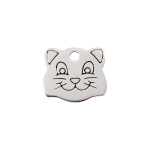 Red Dingo Cat Tag Cat Face Silver
