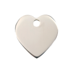 Red Dingo Dog Tag Heart Silver