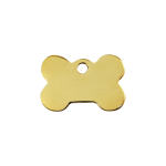 Red Dingo Dog Tag Bone Gold