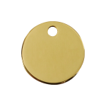 Red Dingo Dog Tag Circle Gold