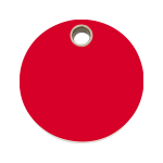 Red Dingo Dog Tag Circle Red