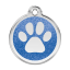 Red Dingo Medalla Glitter Paw Print Azul oscuro