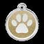 Red Dingo Medalla Glitter Paw Print Oro