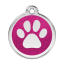 Red Dingo Medalla Glitter Paw Print Hot Pink