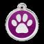 Red Dingo Medalla Glitter Paw Print Púrpura